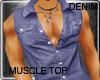 Denim Muscle Top
