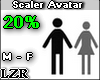Scaler Avatar M - F 20%