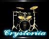Black Gold Drum Set