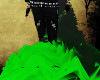 green&black furry tailV2