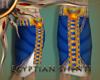 Egyptian Shenti Blue&Gol