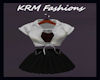 (KRM) Gray and Black