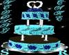 dark chocolate/blue cake