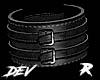!D R Leather Cuff Black