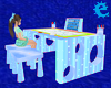 [E] Blue Easel Desk