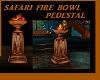 SAFARI FIRE BOWL PEDESTL