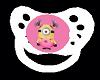 Pink/White Minion Paci