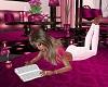 Pink Reading Laying Pose