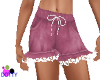 kid pink n lace shorts