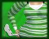 L8y* Green Striped Top