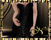 Black Flowery Rose Gown