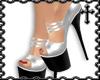 * Silver Starlet Heels