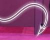 P! UV Neon Tail White