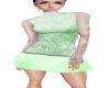 pepermint dress w/lace