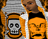 *CA* Orange Skull Hoody