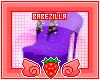 B | dazzling heels. purp