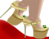 Gold/Green Glam Pumps