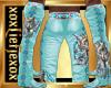 [L] Aqua WOLF Pants M