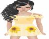 Kids sunflower dress