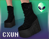 Emo Black Boots