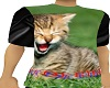 T-shirt with cat 3 poses
