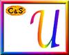 C&S Rainbow Letter U