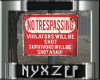 No Trespassing Old Sign
