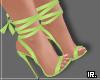 <R> Mika  sandal lime