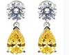 Yellow Gem Earrings