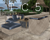 Resort couch bar