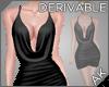 ~AK~ Short Cowl Dress
