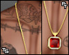 """Ruby Diamond"" Chain."