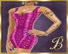 snake skin dress pink