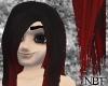 Black/red designer hair