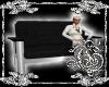 {G}Blk/Silver Love Chair