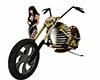 skull chopper bike