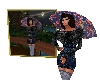 Girl with umbrella pict