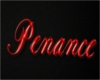 Penance Sign (Red)