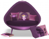 Girls 40% Chair Purple