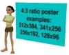 4:3 Ratio Wall Poster