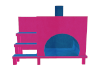 PinkBlue cat house