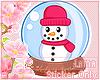 Snowglobe Sticker Art