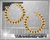 {T} Gold Link Earrings