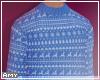 f Big blue sweater