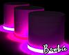 (+) Neon Cylinder Pink
