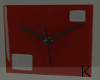""" Red Loft Clock"