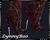 *Lyric Red Lace Heels