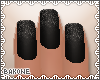 B| Nails Black Sprinkle