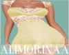 *A* Anna Gold Lace Dress