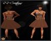 Brown Furry Top Dress